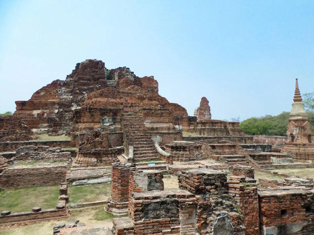Ruinen von Wat Mahathat in Ayutthaya