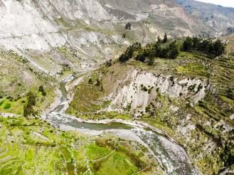 Drohne Foto über das Colca-Tal