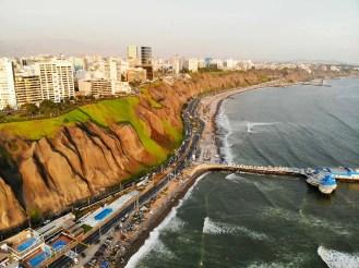 Costa Verde in Lima aus Vogelperspektive