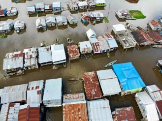 Stelzenhäuser in Belén, Iquitos
