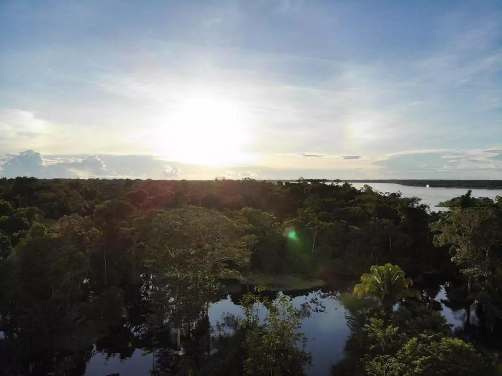 Sonnenuntergang Amazonas Peru