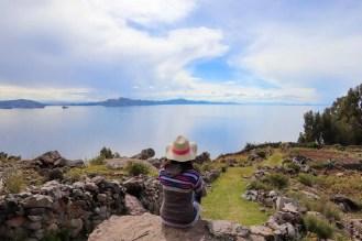 Schöne Aussicht von Amantani Insel
