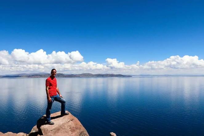 Blick auf den Titicacasee vom Taquile