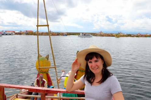 Fahrt mit Schilfboot auf der Titicacasee