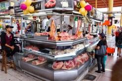 Fleischstand Mercado San Camilo