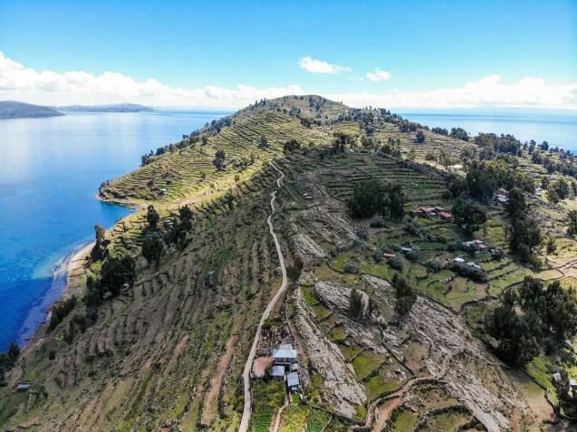 Insel Taquile in Peru