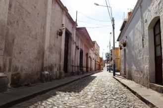 Kopfsteinpflaster Straße in Arequipa