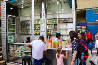 Linaza trinken auf dem Mercado San Camilo in Arequipa