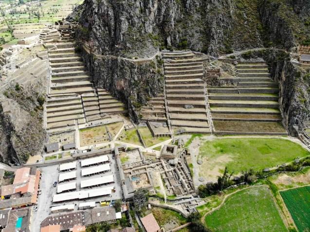 Ruinen von Ollantaytambo - Drohnenaufnahme