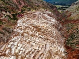 Maras Salzterrassen aus der Luft