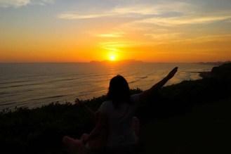 Sonnenuntergang vom Parque Intihuatana in Lima