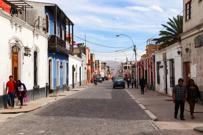 Eine Straße in Arequipa