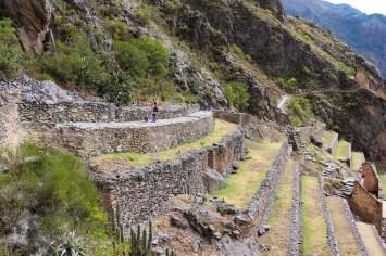 Terrassen bei den Ruinen von Ollantaytambo