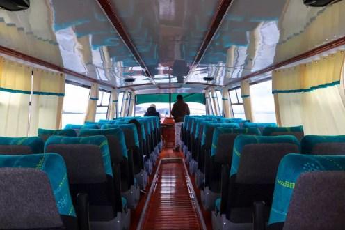 Boot mit 36 Plätzen auf dem Titicacasee