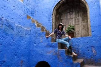 Ein blauer Vorraum im Santa Catalina