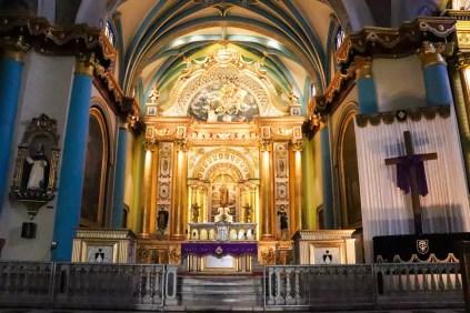 Altar in der Basilika Santo Domingo Lima