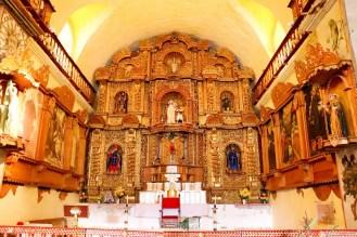 Altar der Kirche in Maca
