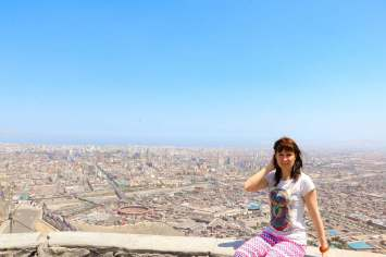 Blick auf Lima von Cerro San Cristobal