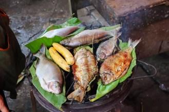 Gegrillte Fische Belén Market