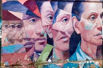 Streetart auf der 28 de Julio Straße in Barranco