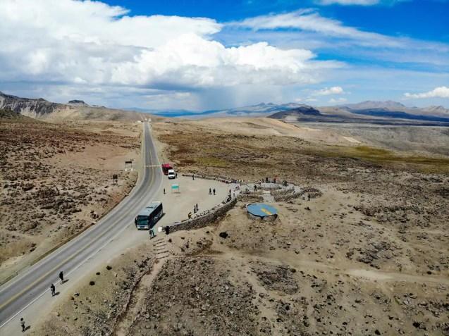 Patapampa Pass aus der Luft