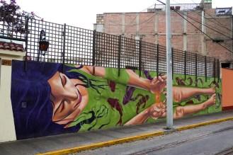 Street Art auf der Av Pedro Osama in Barranco Lima
