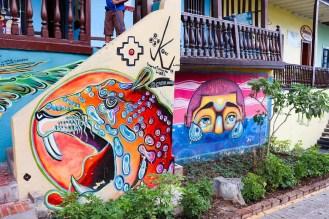 Graffiti auf der Bajada de Banos in Lima