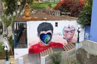 Street-Art an der Puente de los Suspiros Lima
