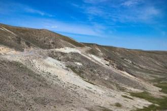 Kurvige Landstraße führt zum Mirador de los Andes