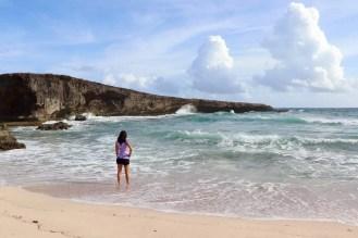 Auf dem Strand vom Boca Prins