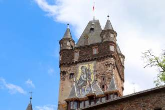 Mosaikbildnis des St. Christophorus Burg Cochem