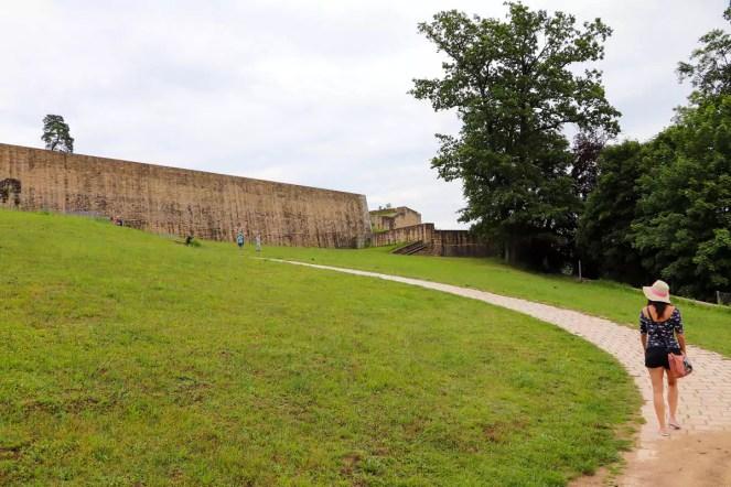 Auf dem Weg zum Fort Obergrünewald