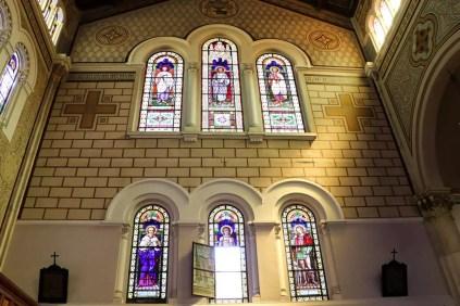 Bleiglasfenster in der Kathedrale Reggio Calabria