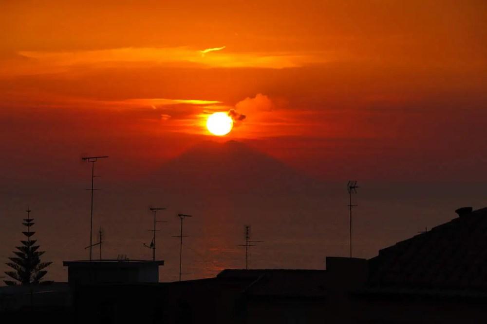 Sonnenuntergang mit dem Stromboli