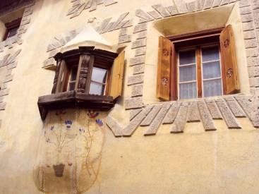 Fenster Engadinerhaus