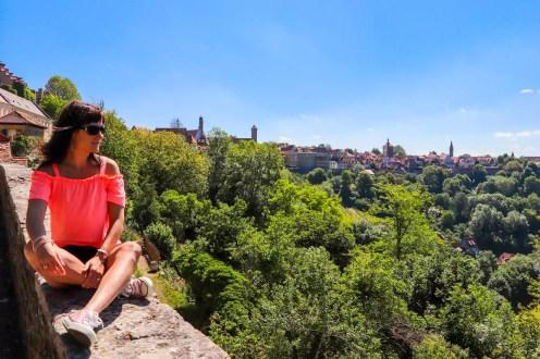 Aussicht vom Burggarten in Rothenburg ob der Tauber