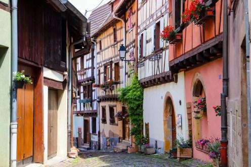 Fachwerkhäuser in Eguisheim
