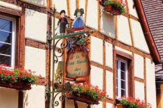 Fachwerkhaus Schild Eguisheim
