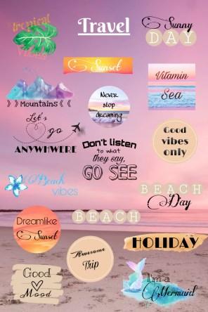 Travel / Reise Sticker