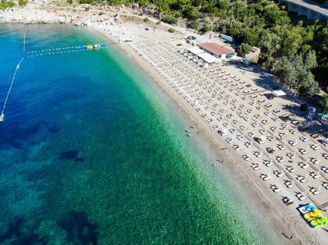Kamenovo Beach Luftaufnahme