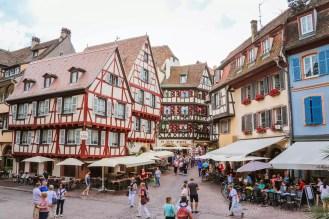 Colmar Altstadt mit schönen Häusern
