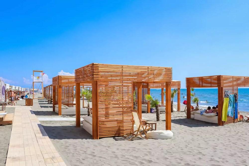 Havana Beach auf dem Long Beach in Ulcinj