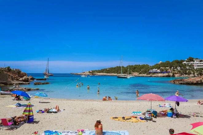 Playa S'Arenal Petit in Portinatx