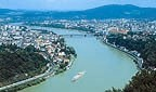 Linz is on the Danube in Austria
