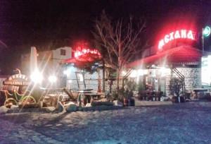Bansko at night - Mehana restaurants