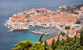 Aerial view of Dubrovnik's Old Town