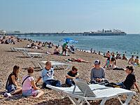 Sunny Brighton beach