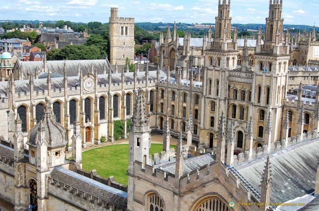 All Souls College, Oxford University, from St. Mary's Tower,