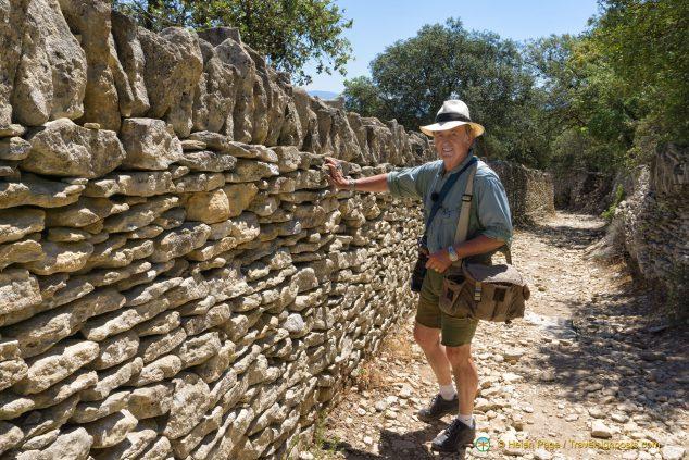 Stone walls near Gordes
