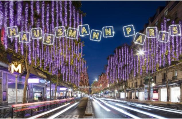 Boulevard Haussmann Christmas Lights